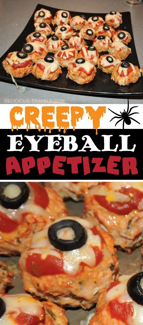 My 10 FAVORITE Halloween Party Appetizers! MeatBall Eyeballs-- easy, creepy and fun! These scary Halloween party appetizers are great for both kids and adults! They're all perfect for a crowd, including finger foods and easy dips. Most of them are quick made ahead recipes, so you can spend more time partying! Lots of creative ideas! | Listotic