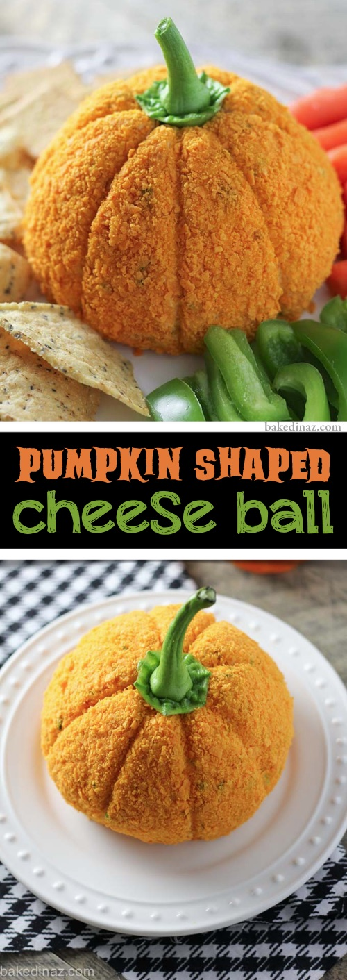 My 10 FAVORITE Halloween Party Appetizers! The BEST pumpkin shaped cheese ball dip recipe using Doritos-- easy, creepy and fun! These scary Halloween party appetizers are great for both kids and adults! They're all perfect for a crowd, including finger foods and easy dips. Most of them are quick made ahead recipes, so you can spend more time partying! Lots of creative ideas! | Listotic