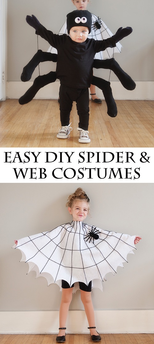30 Easy DIY Halloween Costumes For Kids (Boys and Girls!) | DIY Spider and Web Costume-- cute for siblings!