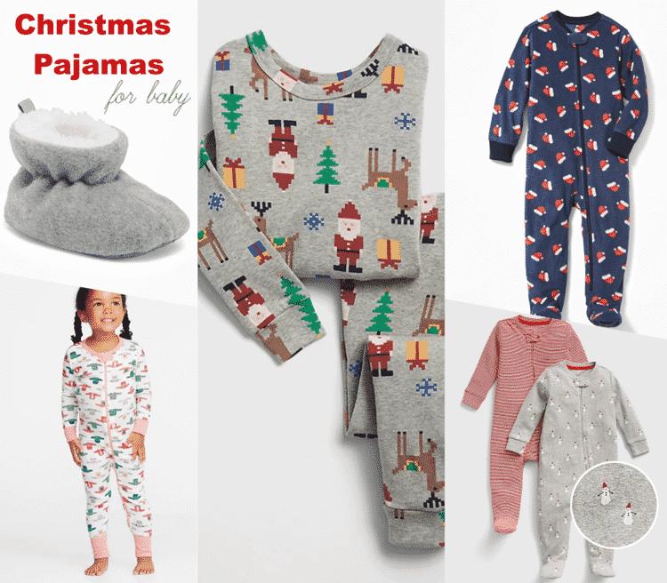 Adorable Christmas pajamas for baby.