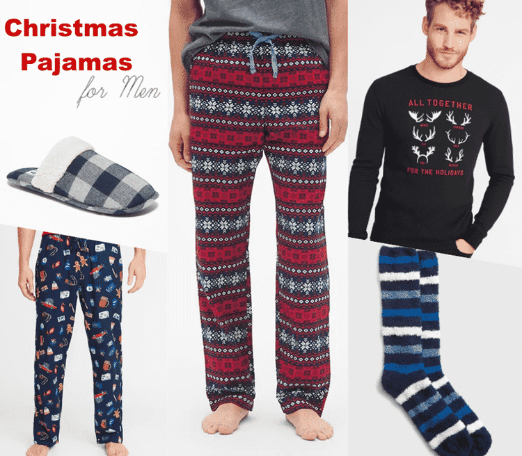 Relaxing and warm Christmas pajamas for men.