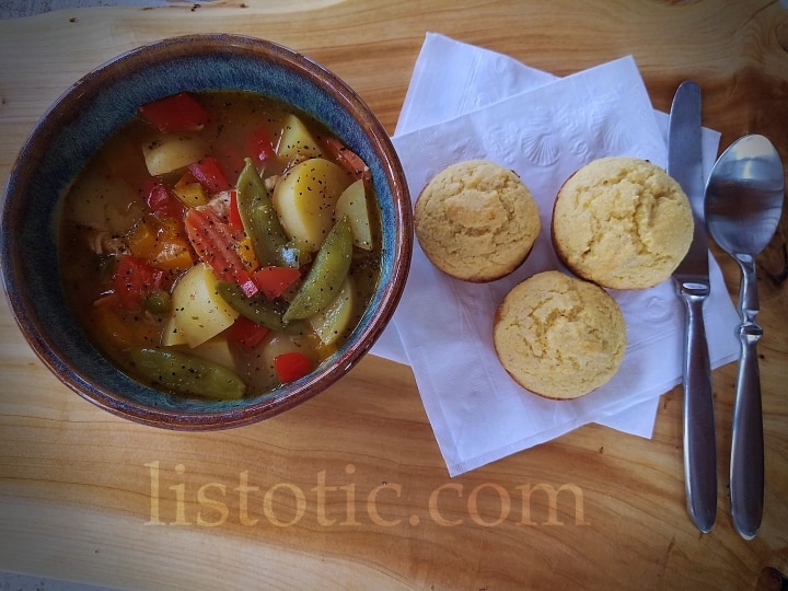 Chicken Soup Old fashioned fresh veggies gut healthy