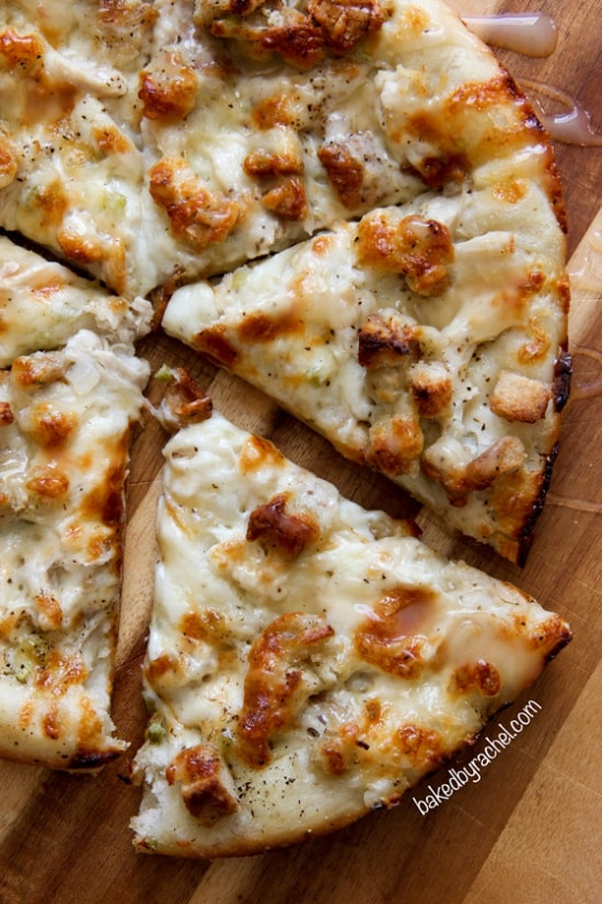 Turn Thanksgiving leftovers into pizza night.