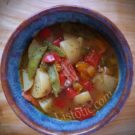 Grandma's homemade chicken soup, easy to make, healthy recipe