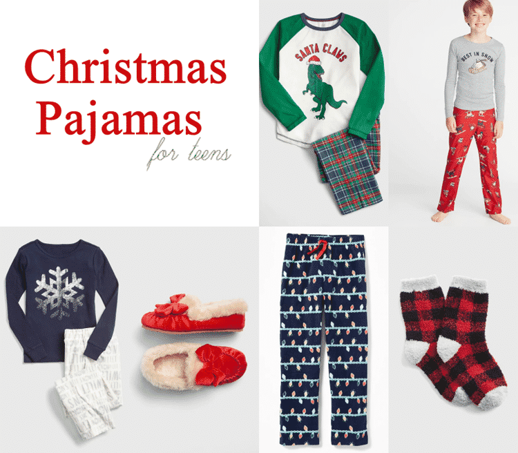Christmas pajamas for the teens in your life. Warm and fashionable.