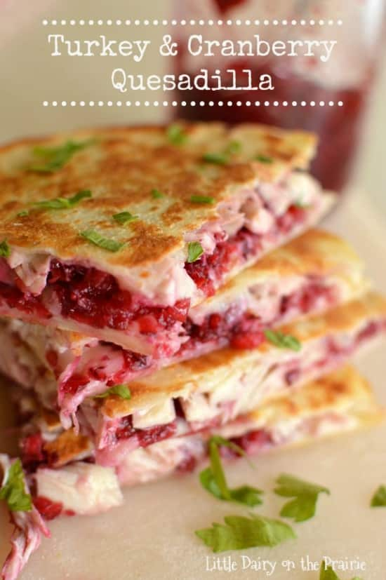 Kid friendly turkey and cranberry quesadillas. Easy, quick kid friendly meal.