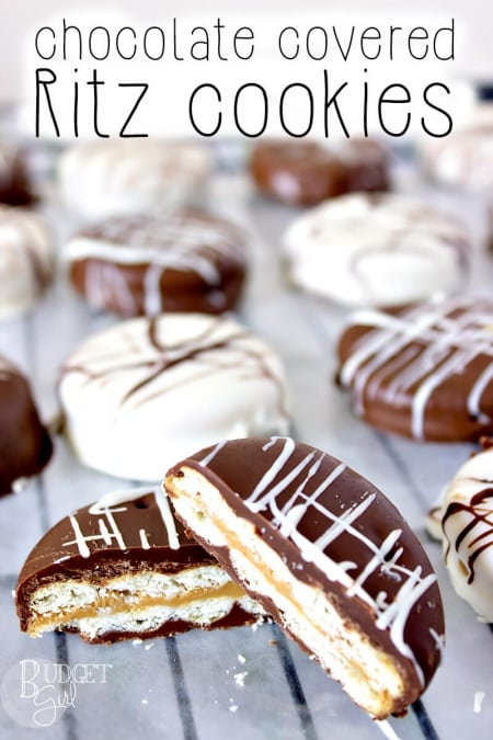 Easy chocolate peanut butter Ritz cookies. A kid favorite.