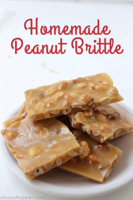 Delicious peanut brittle Christmas holiday treat.
