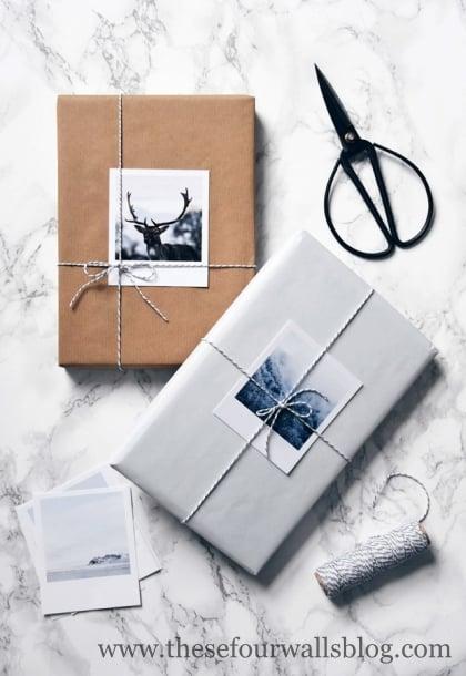 Creative personal gift wrap ideas.