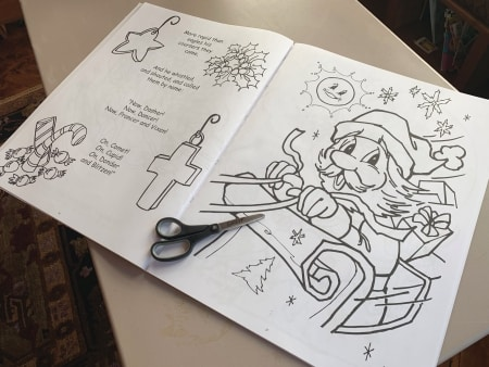 Big coloring book. Great for wrapping.