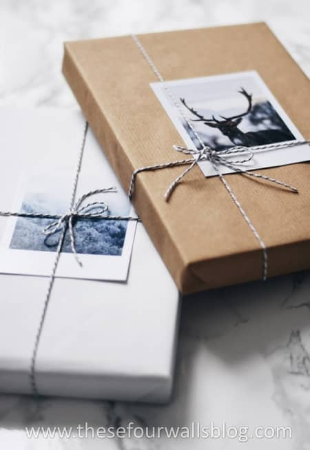 Easy gift wrap with your own photos.
