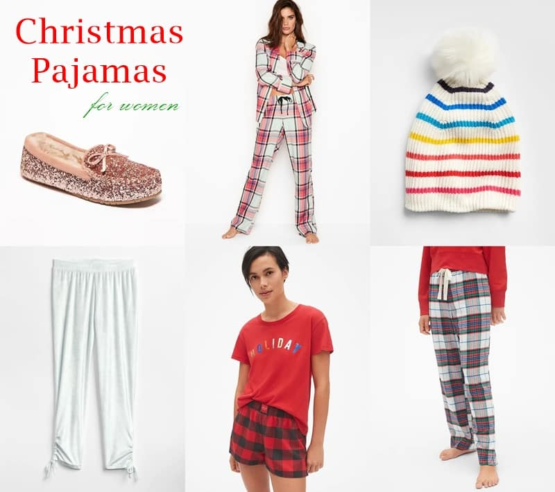 Trendy, warm and cozy Christmas pajamas for women.