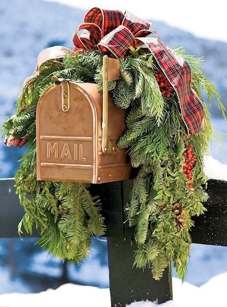 Waiting at your mailbox for your Christmas letters.