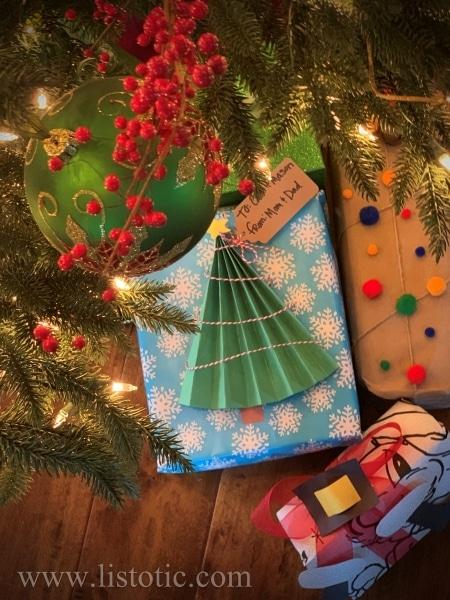 Creative kids gift wrap.