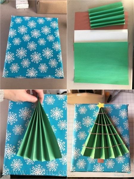 Make the accordion tree for the topper.