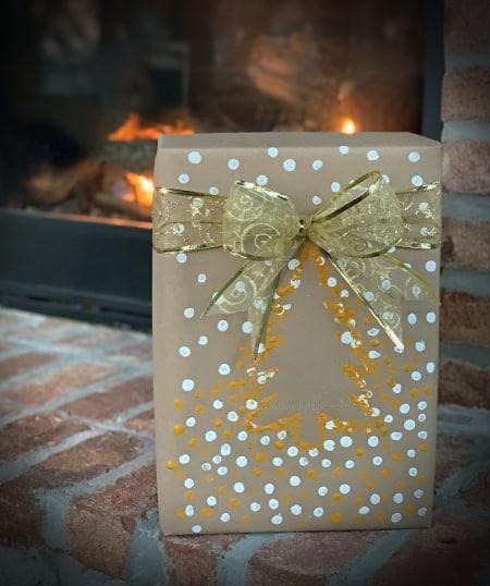 Beautiful handmade Christmas Tree wrapping.