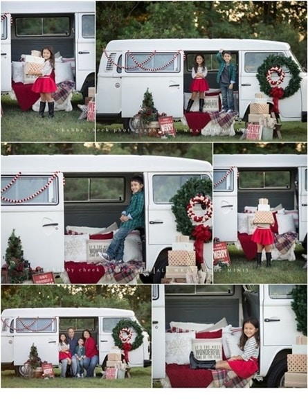Family Christmas in a camper.