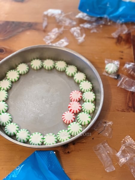 Mint holiday plate. Fun, easy kids diy project for Christmas.