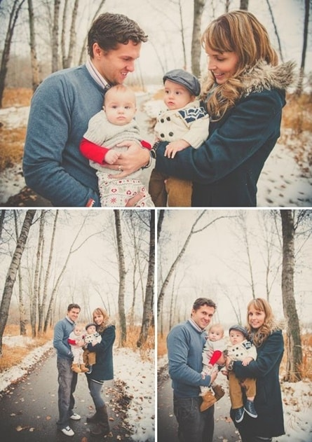 Outdoor family photos make great Christmas cards.