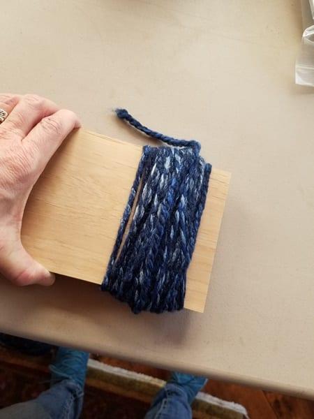 Step 1 wrap the yarn