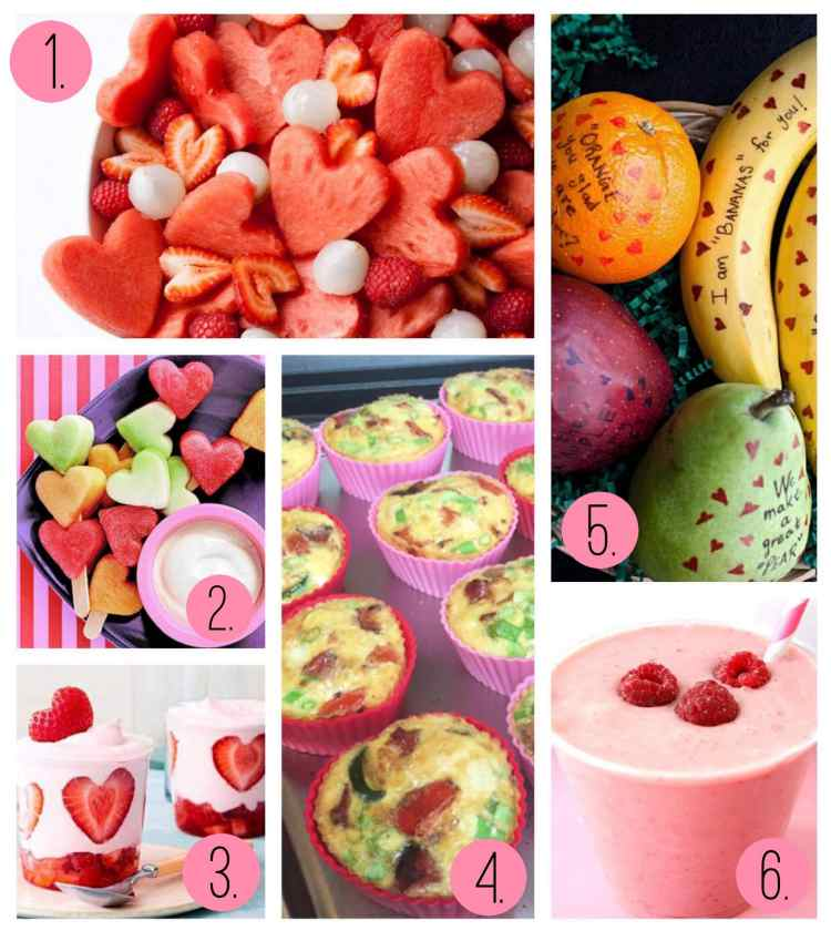 Smoothies, omelets, kabobs and more fruit filled Valentine's Day breakfasts.