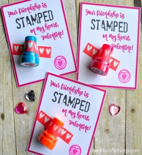 Give a heart stamper for Valentine's Day gift that allows kids to keep the love going.