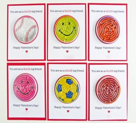 Valentine's Day gift for kids – solve the maze.