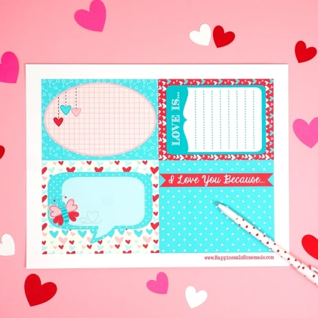 Valentine's Day lunch box love notes printable for your special sweetheart!
