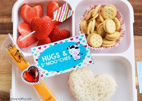 Valentine's Day lunch box love notes for a special lunch for your loved ones.