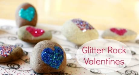 Glitter rock Valentines are an easy diy valentine craft for kids.