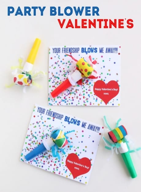 Party blowers are a great non-candy valentine gift.
