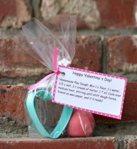 DIY valentine kids will love – homemade playdough.