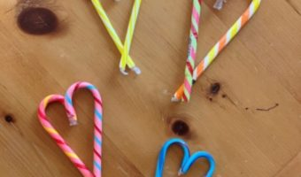 DIY Candy Cane Hearts.