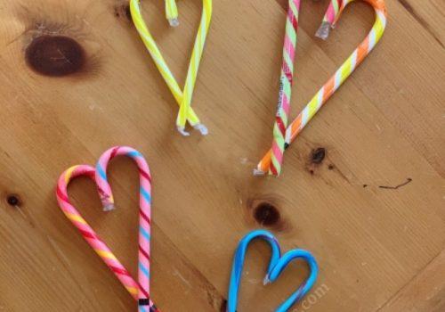 DIY Candy Cane Hearts.