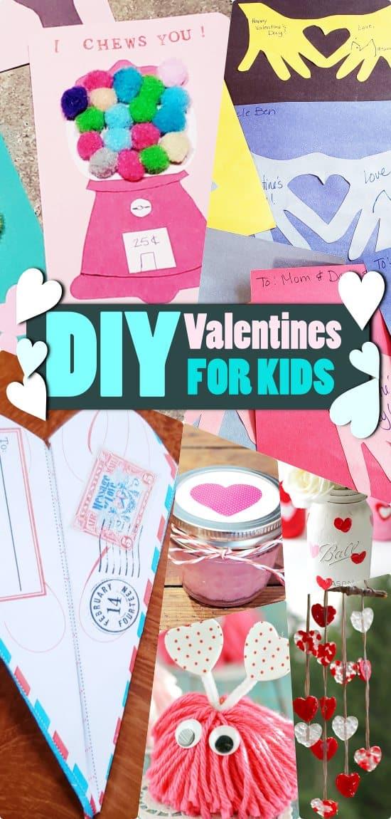 DIY Valentines for kids. Creative ideas to make valentine gifts.