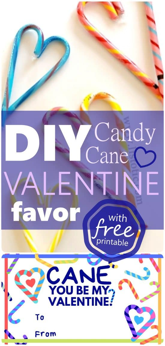 DIY your own candy cane valentine's day favor and save money.