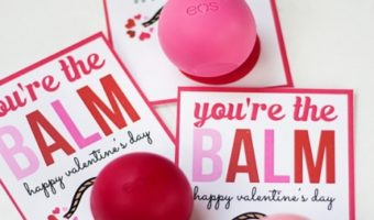 Teacher Valentine ideas with lip balm and free printable.
