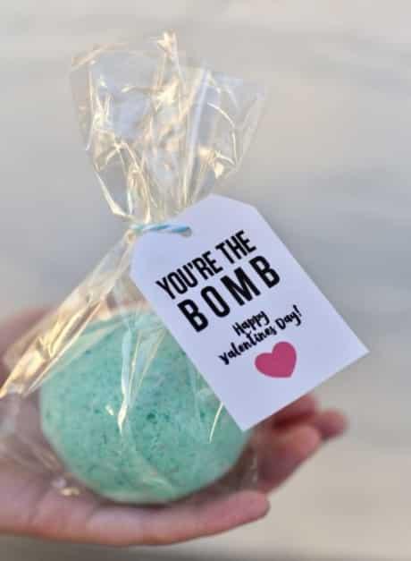 Bath bombs make great teacher valentine gifts.