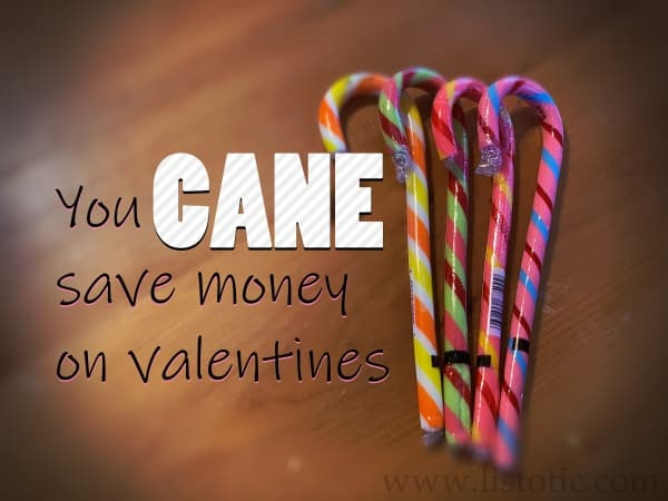 Buying Candy Canes after the holidays can save you money at Valentine's Day