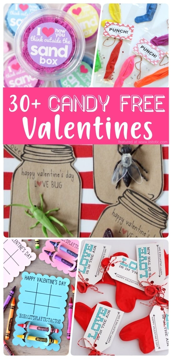 30+ Candy Free Valentine Gift Ideas.