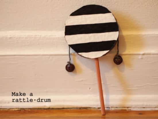 This is a great craft for older children. I love the simplistic choice of black and white.