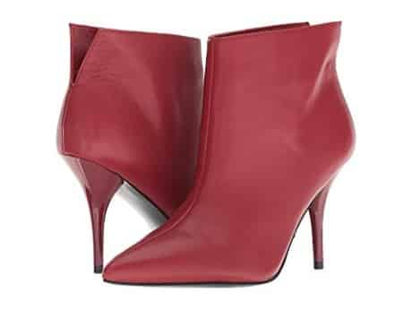 Classy high heel red bootie perfect for weddings, dress up or street style. Women's red dress pump boot heels