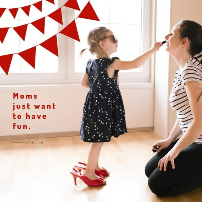 Women's red shoes and sneakers make a great addition to the busy mom schedule.