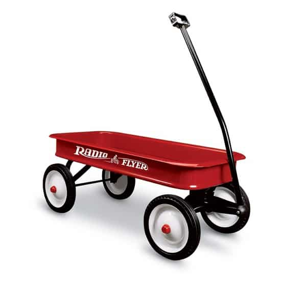 Great kid's Easter basket alternative!  Load up a new Radio Flyer wagon with candy and toys.