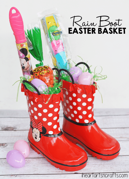 Adorable Easter candy filled Minnie Mouse Rain Boots. Source Name: I Heart Arts N Crafts
