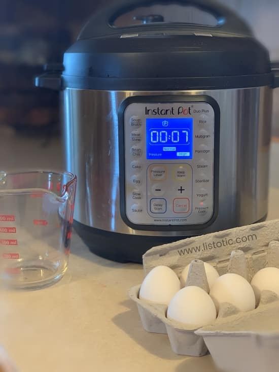 How to hard boil eggs in your Instant Pot recipe for a quick and easy snack or breakfast meal preparation.