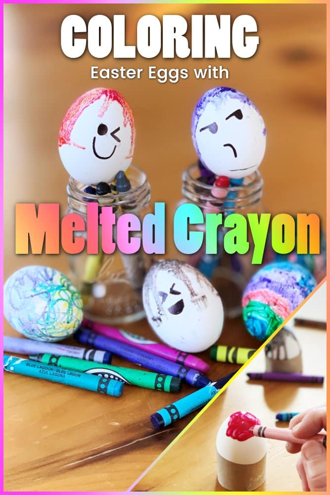 Hard Boiled Easter Eggs With Colorful Melted Crayon Ideas Listotic