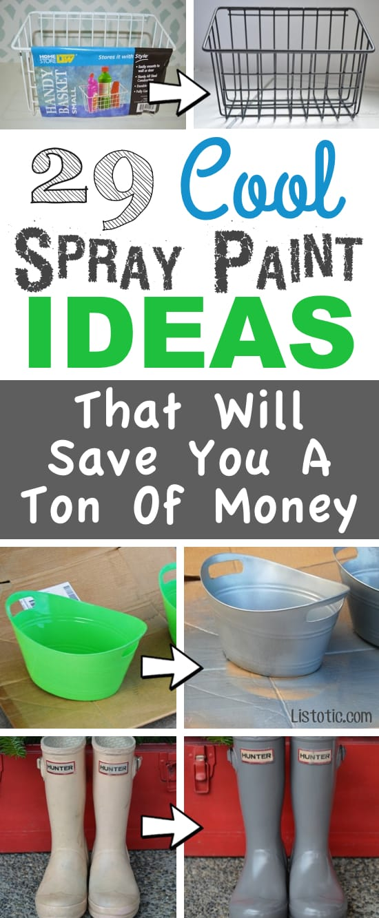 Spray Paint Ideas that will save you a ton of money.