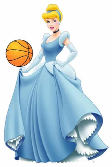March Madness Cinderella holding a NCAA basketball for the college basketball tournament.