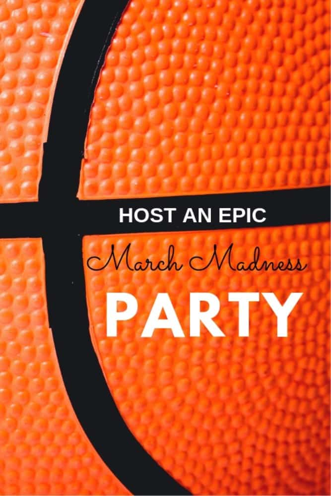 Host and epic March Madness Party for your friends with ideas to decorate.